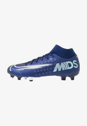 MERCURIAL 7 ACADEMY MDS FG/MG - Moulded stud football boots - blue void/metallic silver/white/black