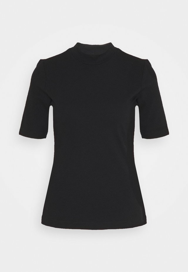 MOCK NECK TEE - T-shirt basic - black