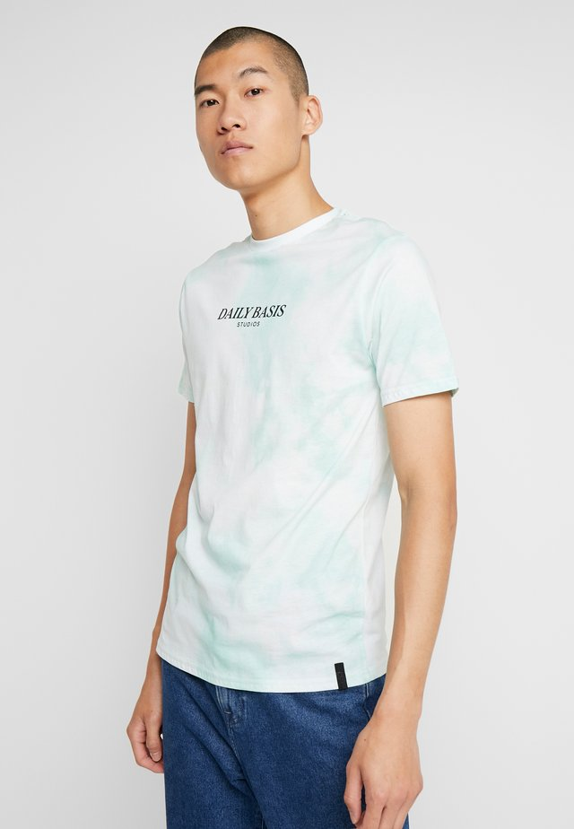 TIE DYE TEE - Print T-shirt - mint