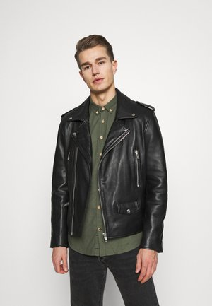 MANITQUE - Leather jacket - black