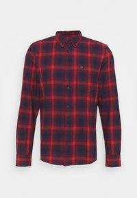 BUTTON DOWN - Shirt - dark blue/red
