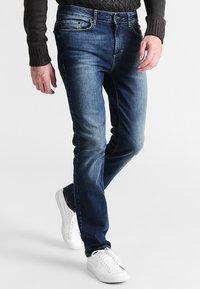 Pier One - Straight leg jeans - washed dark blue - 0