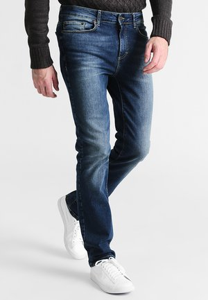 Straight leg jeans - washed dark blue