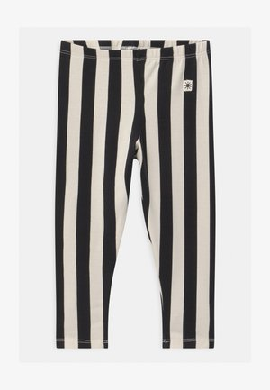 VERTICAL STRIPE - Leggings - Trousers - off black