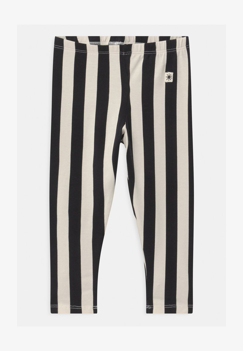 Lindex - VERTICAL STRIPE - Legging - off black