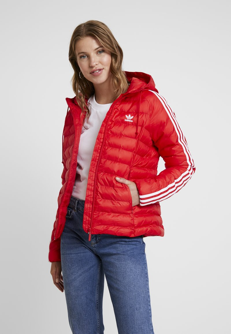adidas Originals - SLIM JACKET - Light jacket - scarlet
