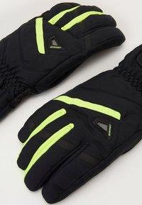Ziener - GARY GLOVE SKI ALPINE - Gloves - blackpoison yellow - 3