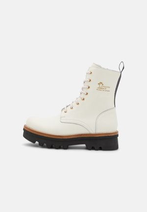 MIREN  - Platform ankle boots - white