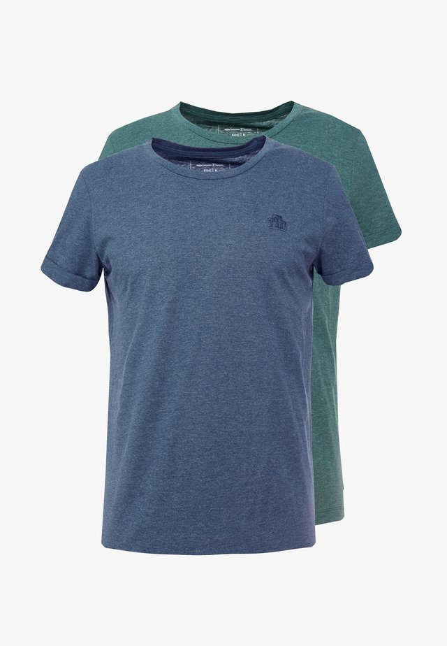 2 PACK - T-shirt basique - agate stone/blue melange