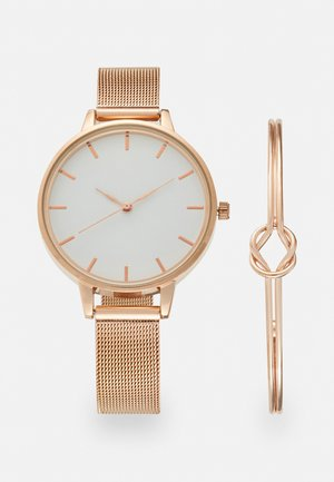 SET - Klocka - rose gold-coloured