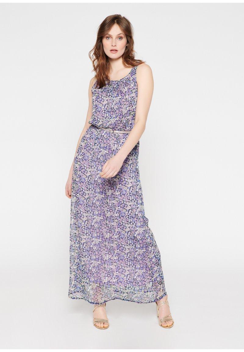 LolaLiza - WITH FLOWERS AND BELT - Maxi dress - purple