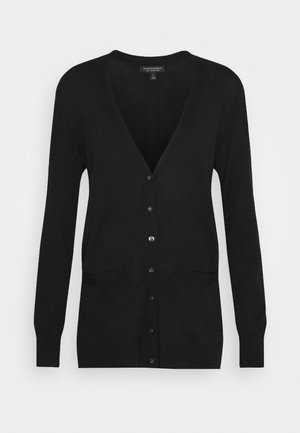 LONG BUTTON UP CARDIGAN - Cardigan - black