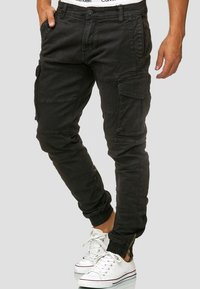 INDICODE JEANS - ALEX - Cargo trousers - black - 0