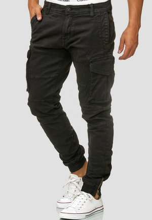 ALEX - Cargo trousers - black