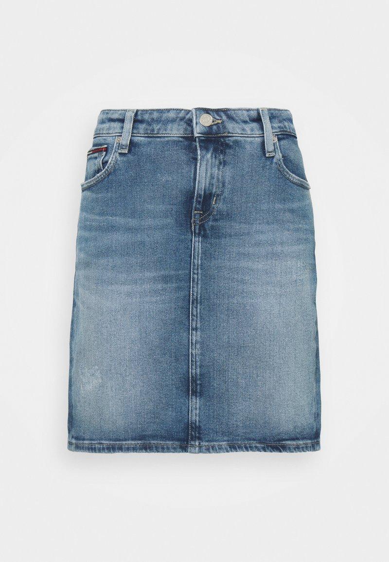 Tommy Jeans - CLASSIC SKIRT - Mini skirt - blue denim