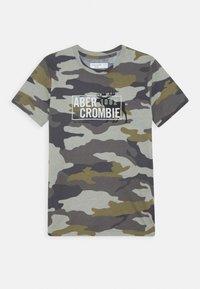 Abercrombie & Fitch - MULTIMEDIA TECH LOGO - Print T-shirt - beige - 0