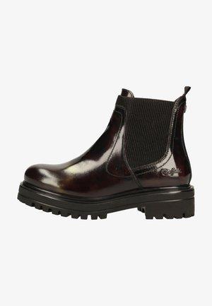 Platform ankle boots - bordeaux