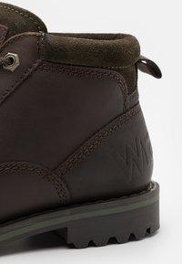 Wrangler - GUN - Lace-up ankle boots - testa di moro - 5