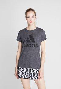 adidas Performance - WINNERS TEE - Camiseta estampada - black - 0