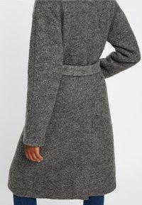Noisy May - NMZOE  WOOLEN COAT - Classic coat - dark grey - 4
