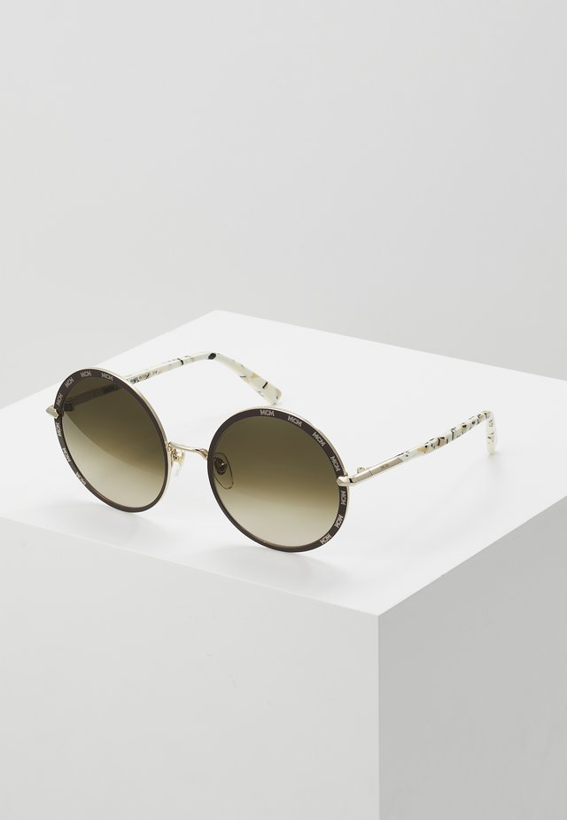 Gafas de sol - shiny gold-coloured/brown