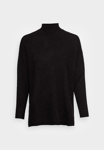 VMPLAZA HIGHNECK LONG BLOUSE - Jumper - black