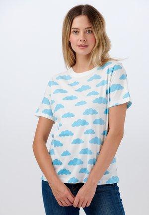 MAGGIE HEAD IN THE CLOUDS - T-shirt z nadrukiem - off- white