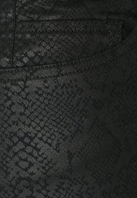 Opus - EMILY CRISTAL SNAKE - Slim fit jeans - black - 2