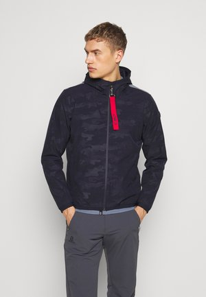 MAN JACKET FIX HOOD - Hardshell jacket - dark blue