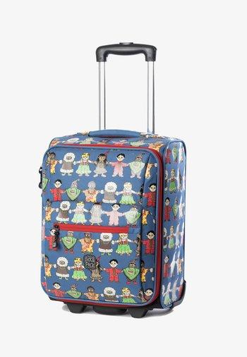 PEACE  - Wheeled suitcase - blau