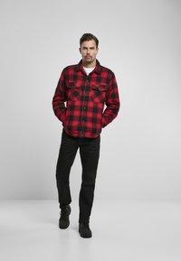 Brandit - Denim jacket - red/black - 1