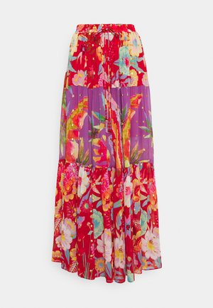 MIXED FLORAL MAXI SKIRT - Maxi skirt - multi