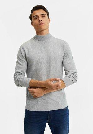 MET OPSTAANDE BOORD - Trui - blended light grey