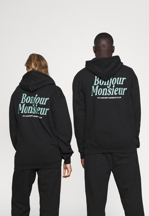 BONJOUR HOODIE UNISEX - Sweater - black