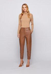 BOSS - SIWETTA - Trousers - light brown - 1