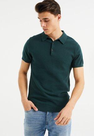 MET STRUCTUUR - Poloshirt - dark green