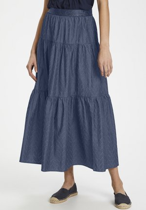 CUARIANE - A-line skirt - dark blue wash