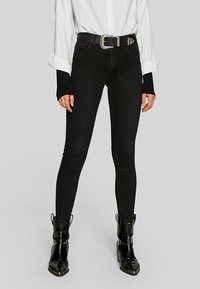 Stradivarius - Jeans Skinny Fit - black denim - 0