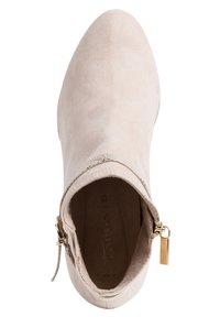 Tamaris - Kotníková obuv na vysokém podpatku - ivory - 1