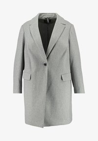 Dorothy Perkins Curve - MINIMAL LINED - Krátký kabát - grey marl - 4