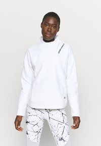 Under Armour - RECOVER WRAP NECK - Fleece jumper - white - 0