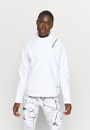 RECOVER WRAP NECK - Fleece jumper - white