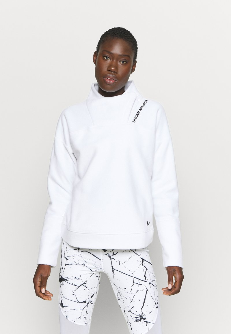 Under Armour - RECOVER WRAP NECK - Fleece jumper - white