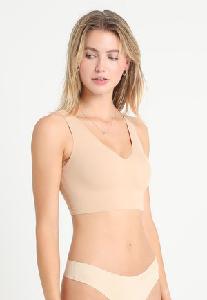 LINED BRALETTE V NECK - Top - beige