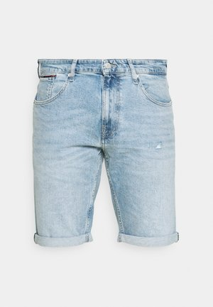 RONNIE - Denim shorts - light-blue denim