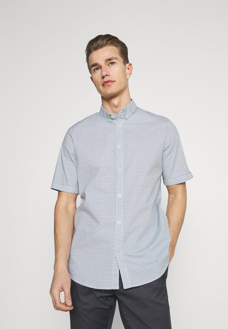 TOM TAILOR - Shirt - white/blue