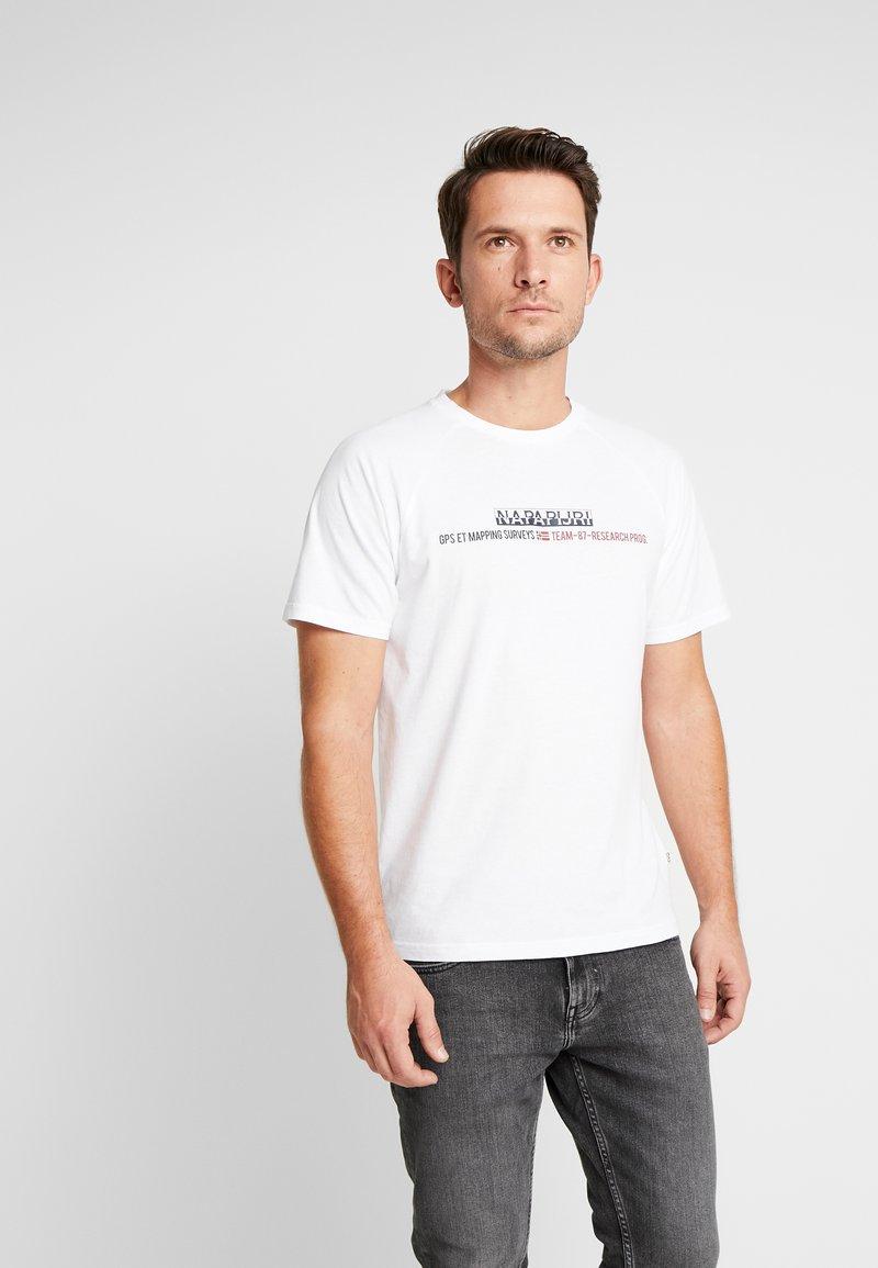 Napapijri - SASTIA  - T-Shirt print - bright white