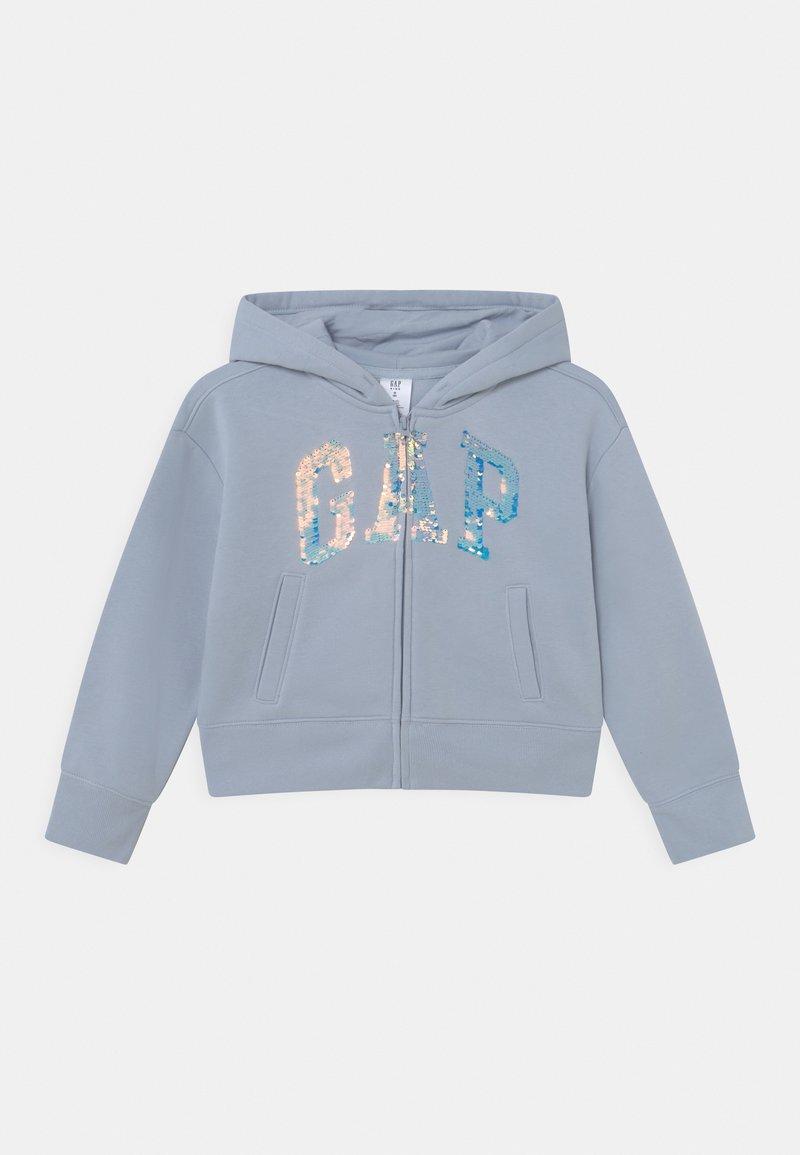 GAP - LOGO FLIPPY - Zip-up sweatshirt - ice blue