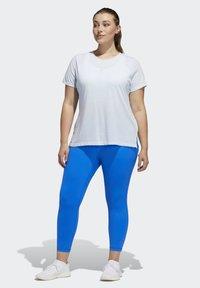 adidas Performance - GO TO T-SHIRT (PLUS SIZE) - T-shirt print - blue - 1