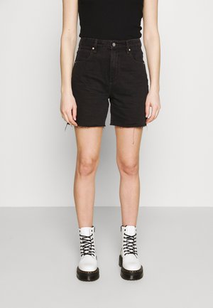 A CLAUDIA CUT OFF - Denim shorts - black box